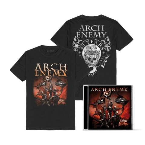 Khaos Legions Bundle by Arch Enemy - 1CD + T-Shirt - shop now at Arch Enemy store