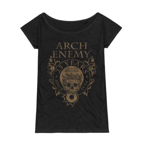 25 Years Crest by Arch Enemy - Girlie Shirt Loose Fit - shop now at Arch Enemy store